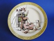 Rare Royal Doulton Nursery Rhymes F 'Old King Cole' Rack Plate by J. Ogden c1910